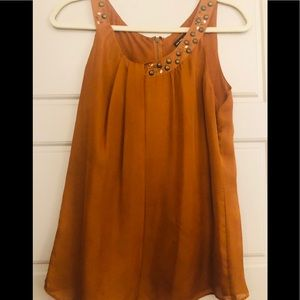 New York and Co Bronze Blouse